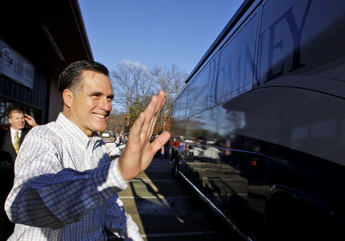 Republican presidential candidate, former Massachusetts Gov. Mitt Romney campaigns at Cherokee Trike and More in Greer, S.C., Thursday, Jan. 12, 2012. (AP Photo/Charles Dharapak)