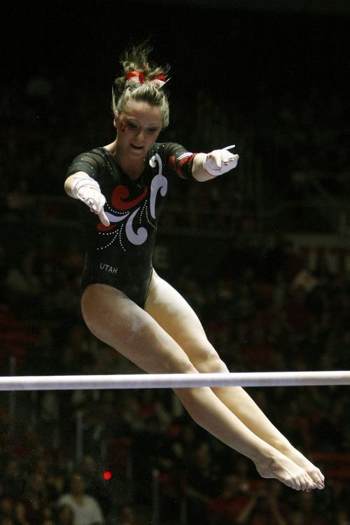 Utah gymnastics: Utes break 197-point mark in win over USU ...