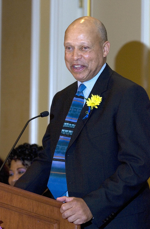 Paul Fraughton | The Salt Lake Tribune. Judge Tyrone E. Medley speaks at the NAACP's  28th annual Martin Luther King Jr. Memorial Luncheon  at the Little America Hotel in Salt Lake City. Medley received the Dr. Martin Luther King Jr. Civil Rights Award at the luncheon.  Monday, January 16, 2012