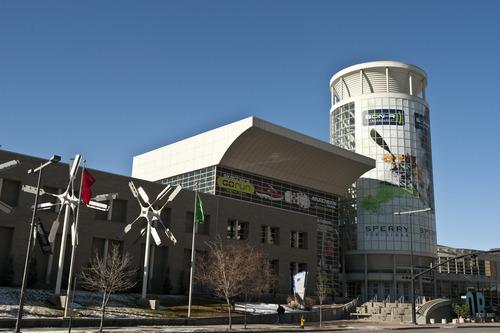 Chris Detrick  |  The Salt Lake Tribune Preparations continue at the Calvin L. Rampton Salt Palace Convention Center for the 2012 Outdoor Retailer Winter Market Tuesday January 17, 2012.