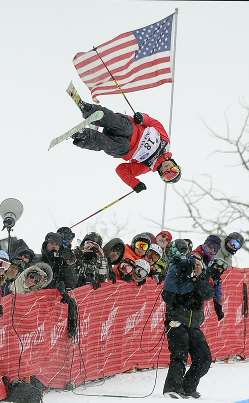 In this Feb. 5, 2011 file photo, Sarah Burke of Canada makes her second run during the women's half pipe finals at the freestyle skiing world championships, in Park City. Burke died Thursday morning at University Hospital in Salt Lake City, her publicist and hospital officials confirmed. The 29-year-old had been comatose since hitting her head in a fall at the superpipe at Park City Mountain Resort on Jan. 10. (AP Photo/Mark J. Terrill, File)   Burke died Thursday morning at University Hospital in Salt Lake City, her publicist and hospital officials confirmed. The 29-year-old had been comatose since hitting her head in a fall at the superpipe at Park City Mountain Resort on Jan. 10.