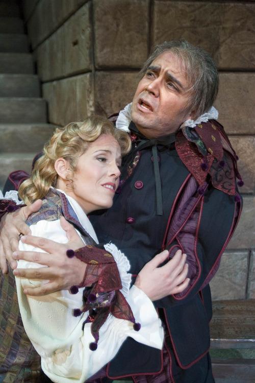 Paul Fraughton | The Salt Lake Tribune Guido LeBron as Rigoletto and Celena Shafer as Gilda in the Utah Opera production of Verdi's