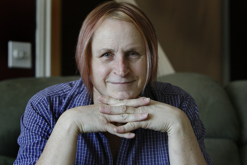 Scott Sommerdorf     The Salt Lake Tribune               Dominique Storni, pictured here in her West Valley City home, has been one of physician Nicola Riley's patients. Riley has welcomed transgender Utahns, including Storni, who supports Riley.