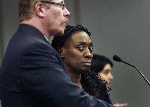Scott Sommerdorf     The Salt Lake Tribune              Dr. Nicola Irene Riley and her attorney Edwin Wall appeared at a Monday, Jan. 9, hearing in Judge Ann Boyden's court where bail was denied for the doctor charged with homicide after allegedly botching an abortion in Maryland in 2010.
