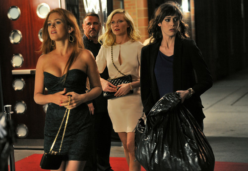 Isla Fisher, left, Kirsten Dunst and Lizzy Caplan star in the comedy