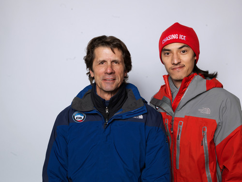 Nature photographer James Balog, left, and director Jeff Orlowski, from the documentary