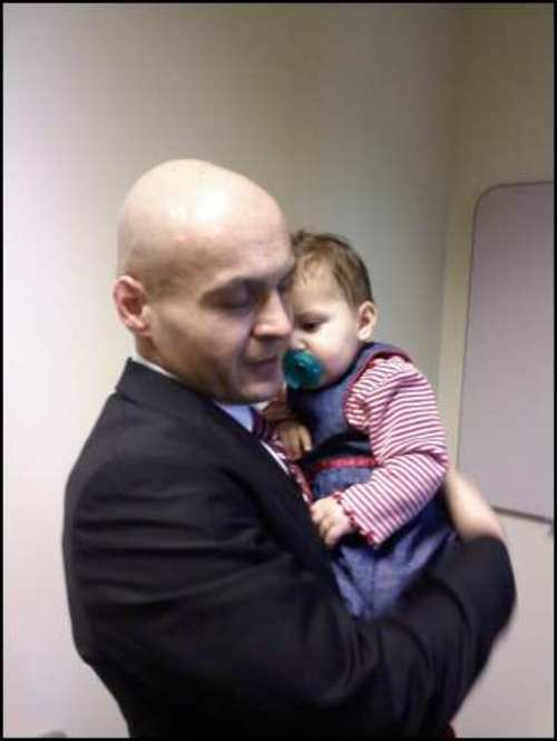 Rob Manzanares of Colorado met his daughter once briefly during a court hearing years ago in Utah. On Friday, the Utah Supreme Court ruled a lower court improperly denied him any say in his daughter's adoption and sent the case back for a new hearing. Courtesy Rob Manzanares