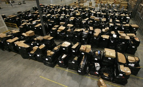 Rick Egan  | The Salt Lake Tribune  More than 600 potential bidders registered for a similar auction conducted in December. It generated in excess of $150,000 for Overstock.com, with the average price paid for a pallet of merchandise at around $500.