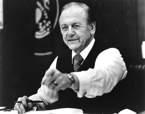 Tribune file photo  Senator Frank E. Moss ca. 1976.