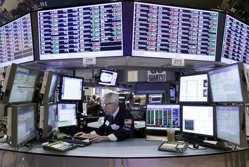 (AP Photo/Richard Drew) Scottrade, the online brokerage, said stock buyers outpaced sellers among its clients for the first 14 trading days of the year, Jan. 3 to Jan. 23. It also said volume was 16 percent higher than December's average.