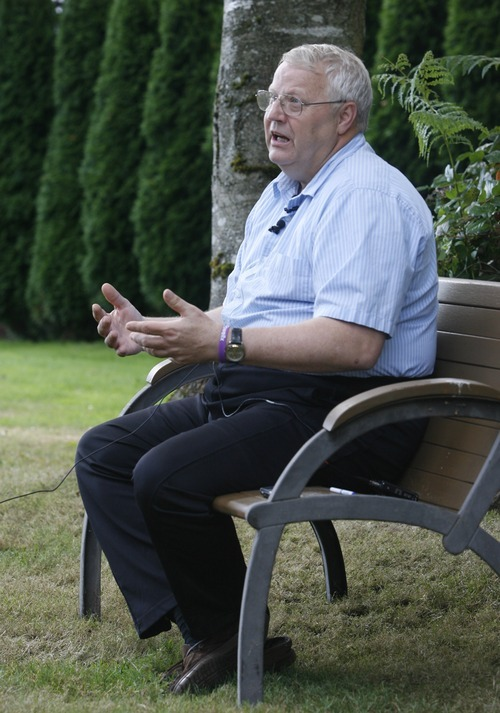 Rick Egan  | The Salt Lake Tribune   Chuck Cox, father of missing Utah woman Susan Powell, discussed the latest developments in the saga in the backyard of his home in Puyallup Wash., Saturday.