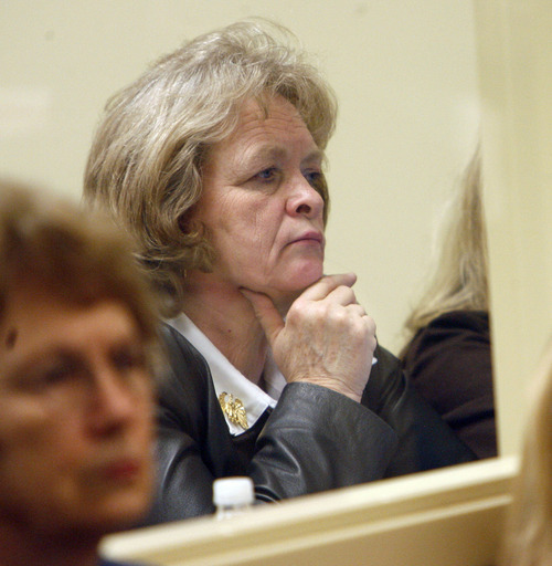 Tribune File Photo Eagle Forum's Gayle Ruzicka watches from the gallery in the House of Representatives during legislative debate.