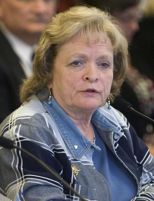 Al Hartmann  |  The Salt Lake Tribune  Gayle Ruzicka of the Eagle Forum.