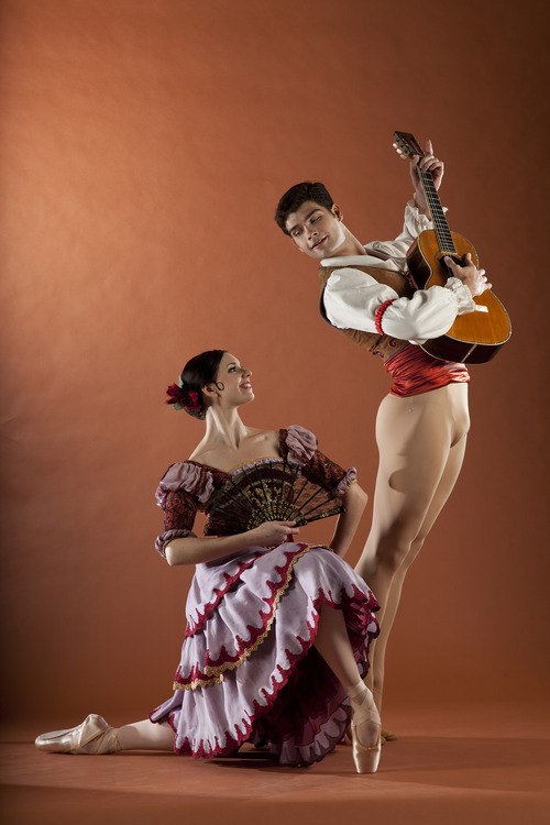 Ballet West's Elizabeth McGrath and Rex Tilton in Anna-Marie Holmes' staging of Marius Petipa's