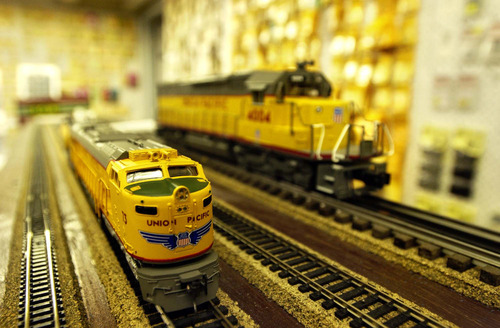 Model trains will be on display at the South Towne Exposition Center on Saturday, Feb. 4, and Sunday, Feb. 5. photo by Danny Chan La