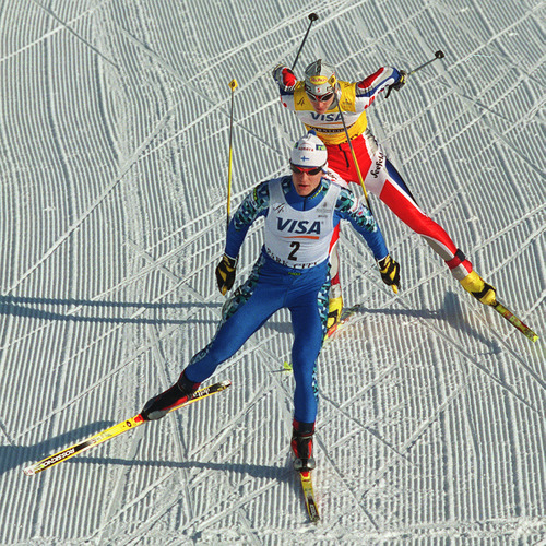 Al Hartmann | Tribune file photo Finland's Samppa Lajunen won three golds medals in the Nordic combined competition.