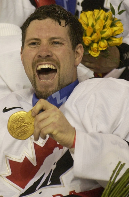 Trent Nelson | Tribune file photo Canada's Owen Nolan helped snap a 50-year drought by winning gold in men's hockey.
