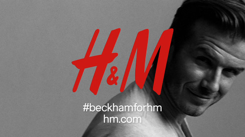 This advertisement provided by H&M, shows English soccer star David Beckham posing for the David Beckham Bodywear Collection for an H&M advertising campaign. H&M will debut a 30-second ad during Super Bowl XLVI, Sunday, Feb. 5, 2012, featuring Beckham and his collection. (AP Photo/H&M)