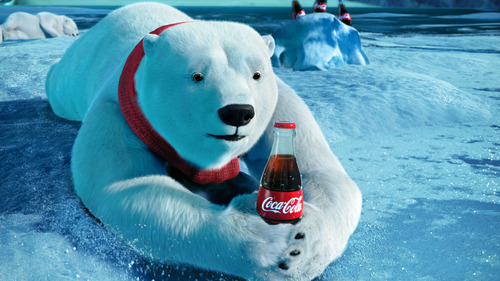 This video still provided by the Coca-Cola Co. and Wieden + Kennedy, shows the polar bears advertisement the