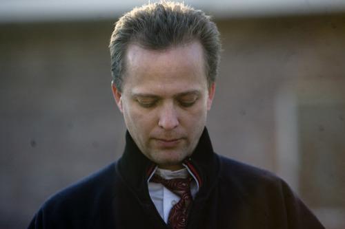 Kim Raff  The Salt Lake Tribune Kirk Graves, Josh Powell's brother in law give an interview outside of Josh's sister's home in West Jordan, Utah on February 5, 2012.