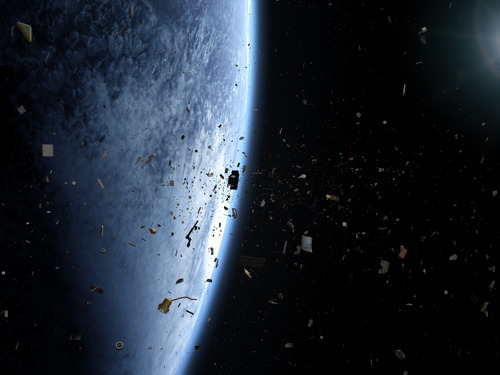 A debris field as depicted in the film