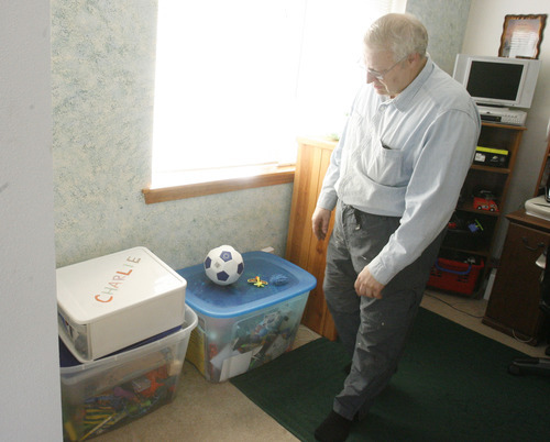 Rick Egan  | The Salt Lake Tribune   Chuck Cox, father of Susan Powell, talks about Charlie and Braden, as he looks at the toys they used to play with in his home in Puyallup, Wash., on Monday, Feb. 6, 2012. His grandsons were killed by their father, Josh Powell, on Sunday.