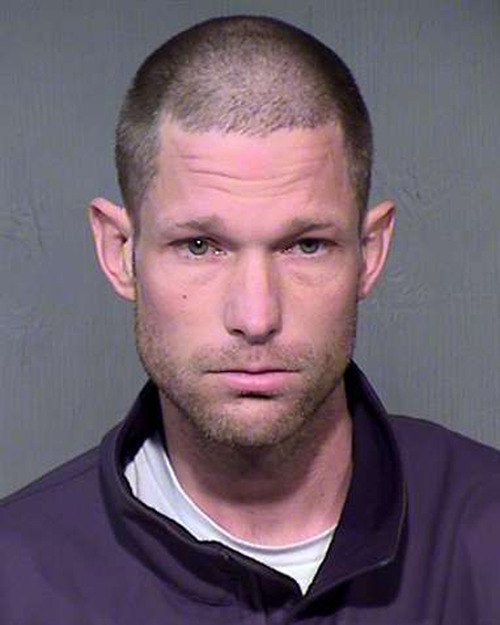 This photo provided by the Maricopa County Sheriff's Office. shows Shawn Nicloy. Nicloy is one of five people arrested in connection with death of an Arizona couple found tied up and burned beyond recognition. The bodies of Lawrence and Glenna Shapiro, well-to-do philanthropists in their 70s, were discovered on Jan. 30 in their stylish home in the affluent Phoenix suburb of Paradise Valley. (AP Photo/Maricopa County Sheriff's Office)