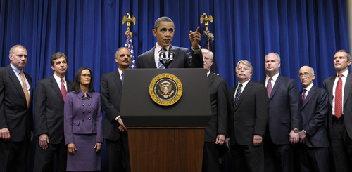 Susan Walsh  |  The Associated Press President Barack Obama speaks about a mortgage settlement Thursday  in Washington.
