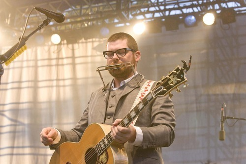 Paul Fraughton  |  The Salt Lake Tribune Colin Meloy, the lead singer for The Decemberists, at the Twilight Concert Series at Pioneer Park in Salt Lake City on Thursday,  July 21, 2011.