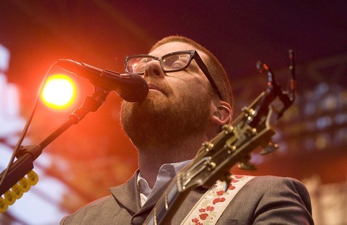 Paul Fraughton  |  The Salt Lake Tribune Colin Meloy, the lead singer for The Decemberists, performs at the  Twilight Concert Series at Pioneer Park in Salt Lake City on Thursday,  July 21, 2011.