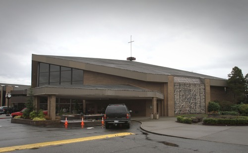 Rick Egan  | The Salt Lake Tribune  The Life Center in Tacoma, Wash., where the services for Charlie and Braden Powell will be held on Saturday.