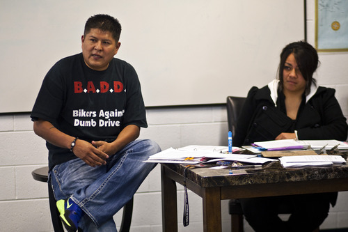 Chris Detrick  |  The Salt Lake Tribune Bruce Klain and Latoya Valikoula teach about safe sexual choices during a class at the Lied Club - Boys & Girls Clubs of Greater Salt Lake Thursday February 9, 2012. The class meets two times a week.