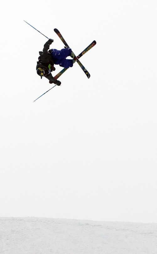 Kim Raff |  The Salt Lake Tribune Joss Christensen competes during the ski slopestyle men's final at the Winter Dew Tour at Snowbasin in Huntsville on Sunday.