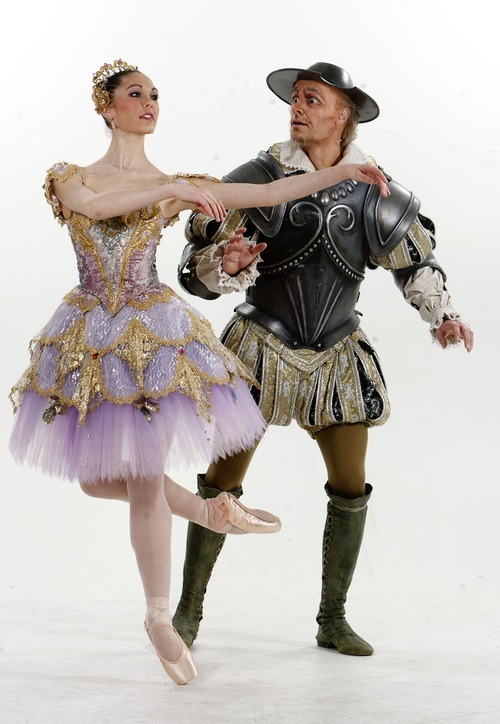 Trent Nelson  |  The Salt Lake Tribune Beau Pearson, right, and Beckanne Sisk are performing in Ballet West's