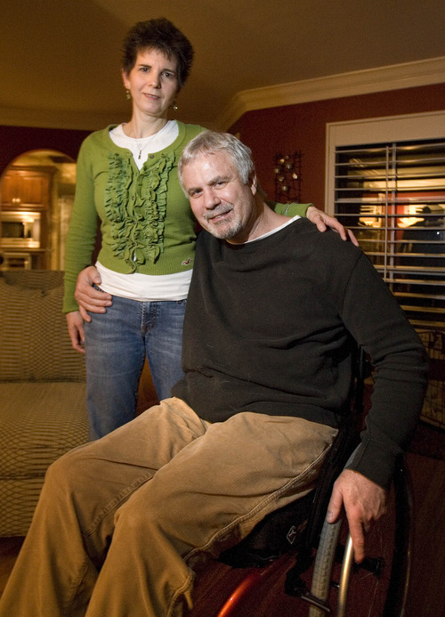 Paul Fraughton | The Salt Lake Tribune Colleen and Stacy Hanson in their Salt Lake City home talk about how their lives have changed since Stacy was shot at Trolley Square five years ago.