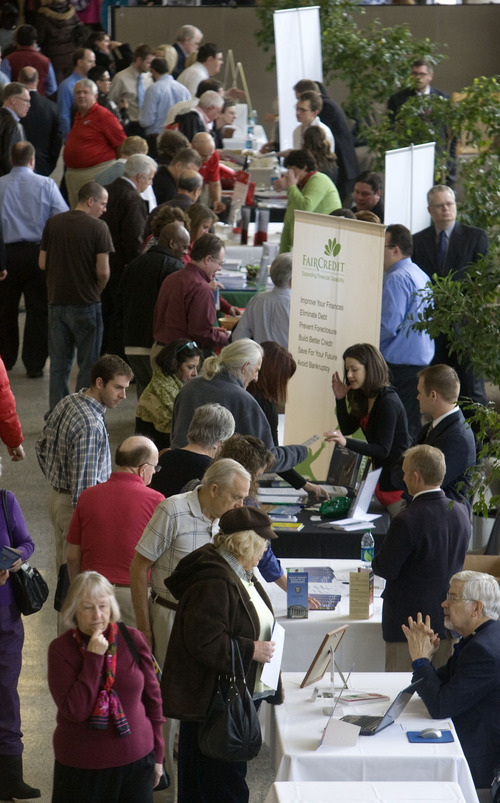 Al Hartmann  |  The Salt Lake Tribune Several hundred people attend the Fraud College event at the University of Utah on Wednesday. The event is to educate and inform the public in Utah against fraud with panels, speakers and booths.