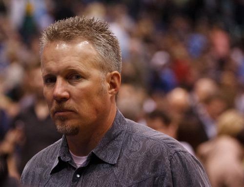 Trent Nelson  |  The Salt Lake Tribune Greg Miller, as the Utah Jazz host the Oklahoma City Thunder at EnergySolutions Arena in Salt Lake City on Friday, Feb. 10, 2012.
