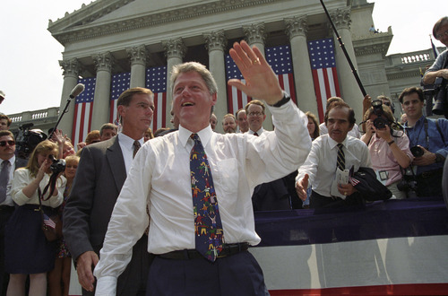 President Clinton in Charleston, West Virginia, on Aug. 9, 1993. Courtesy William J. Clinton Presidential Library