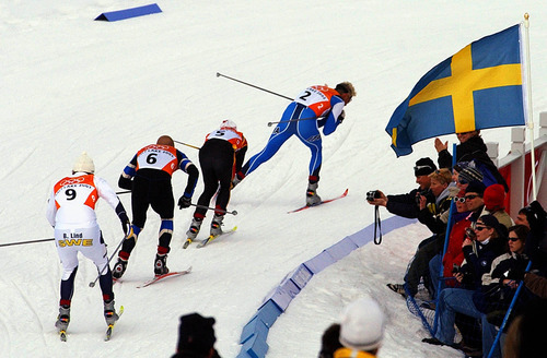 Francisco Kjolseth   Tribune file photo The final four skiers fight for medal position around the penultimate turn in the men's cross country sprint final at Soldier Hollow.