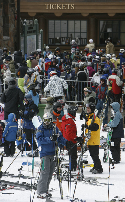 Tribune file photo The number of skiers and snowboarders visiting Utah resorts increased by 42% since the 2002 Winter Olympics.