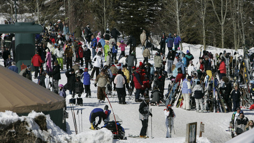 Tribune file photo The number of skiers and snowboarders visiting Utah resorts increased by 42% since the 2002 Winter Olympics