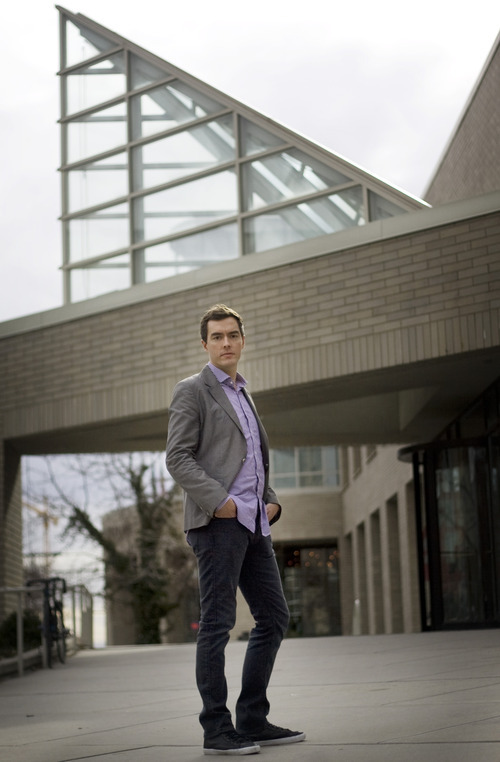 Kim Raff | The Salt Lake Tribune Aaron Moulton is the new curator at the Utah Museum of Contemporary Art in Salt Lake City.