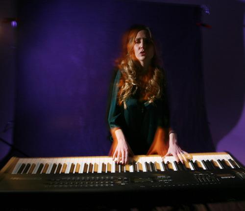 Steve Griffin  |  The Salt Lake Tribune  Katie McMinn,  a singer-songwriter Salt Lake City, Utah, in the Tribune stuidio Friday, February 17, 2012.