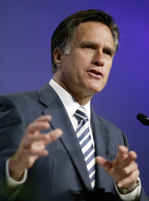 File Photo     The Associated Press Former Massachusetts Gov. Mitt Romney.