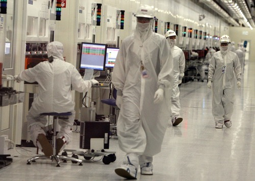 Leah Hogsten  |   Tribune file photo Micron owns 51 percent of the IM Flash plant in Lehi and Intel the rest in a joint venture that began in 2005. Micron spokesman Dan Francisco said Wednesday no changes had taken place in that relationship.