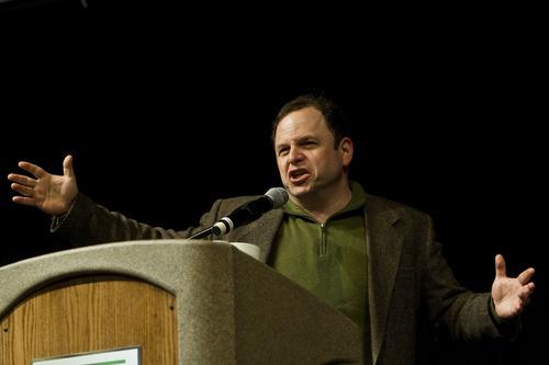 Chris Detrick     The Salt Lake Tribune Jason Alexander speaks at Sorensen Student Center's Grande Ballroom at Utah Valley University Tuesday February 28, 2012.