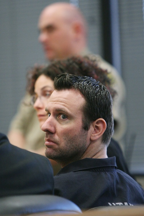 Tribune file photo David Ragsdale looks at family during sentencing Jan 30, 2009  in Provo.  Ragsdale shot and killed his wife.