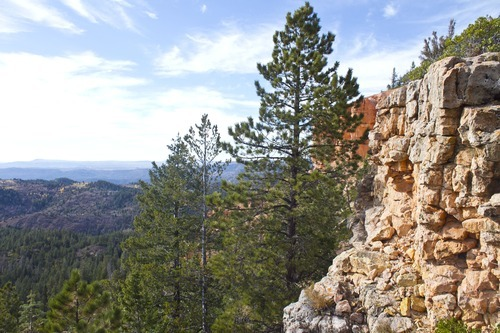 Zion View Estates, located roughly ten miles from Duck Creek Village in Kane County, is known for its breathtaking views and peaceful solitude.  It has become both a getaway for wealthy Las Vegans as well as a poor-man's retreat.  (Kina Wilde)