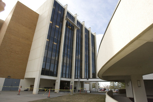 Paul Fraughton  |  The Salt Lake Tribune Maintenance  work is performed on Weber State University's outdated science building. The university has requested $63 million to replace the 1969 building.