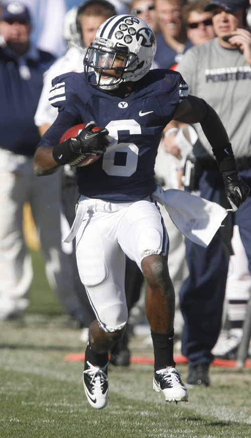 Rick Egan | Tribune file photo BYU sophomore Jordan Johnson is expected to compete for a starting cornerback spot as spring practices begin Monday.
